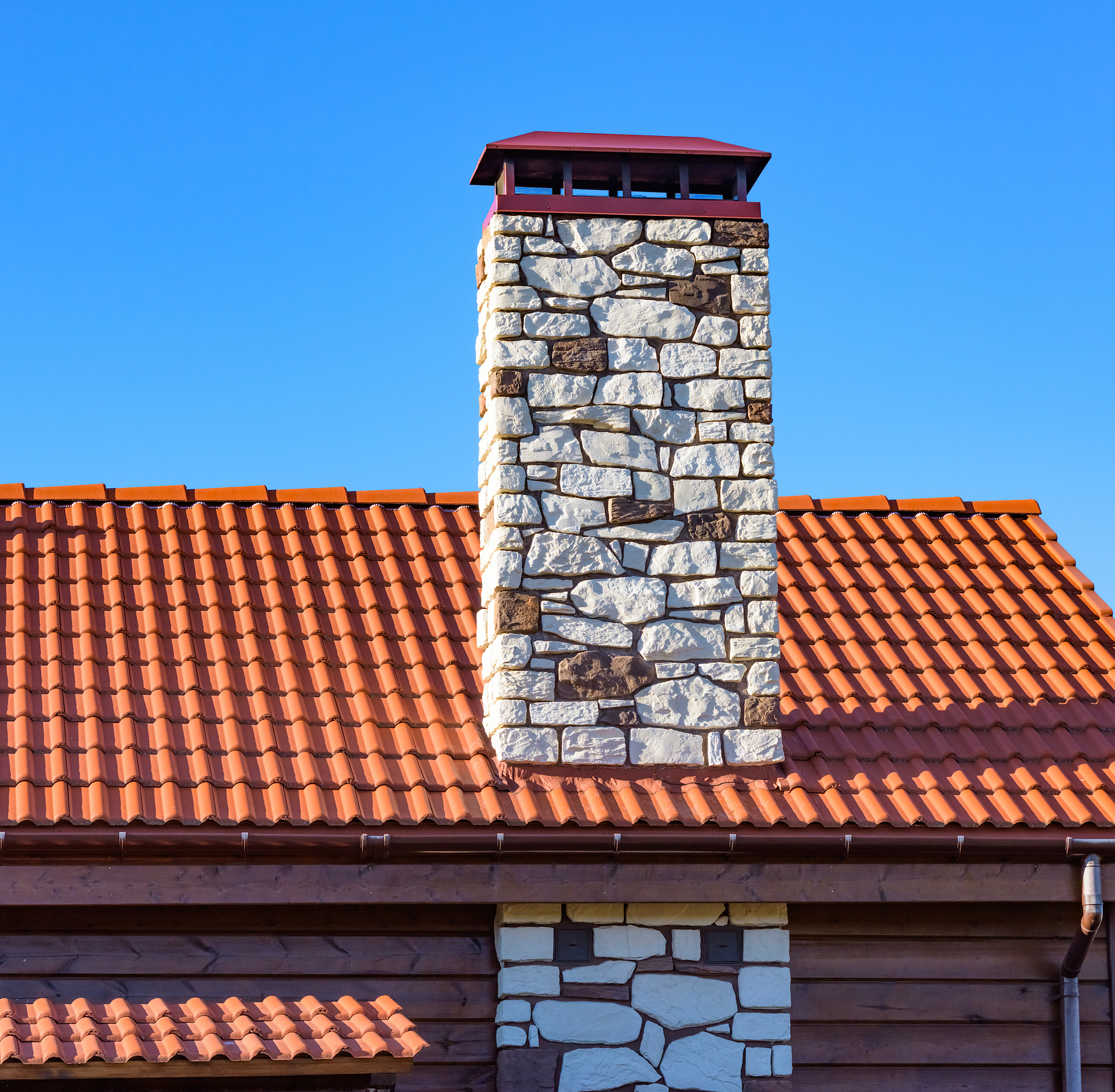 Brick Fireplace Chimney