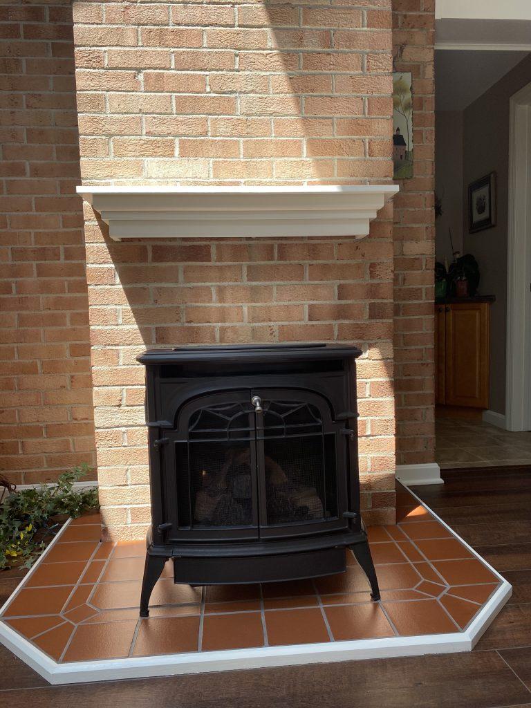 Wood Fireplace Conversion