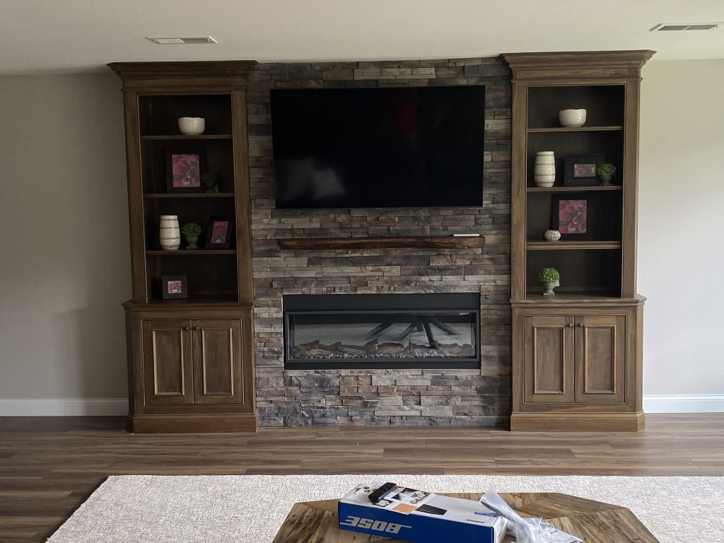 Fireplace Conversion in Pittsburgh Home