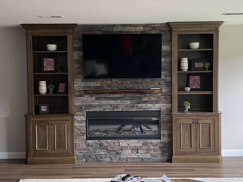 Completed Fireplace Conversion