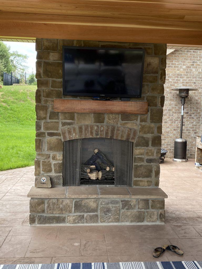 Finished Fireplace Upgrade